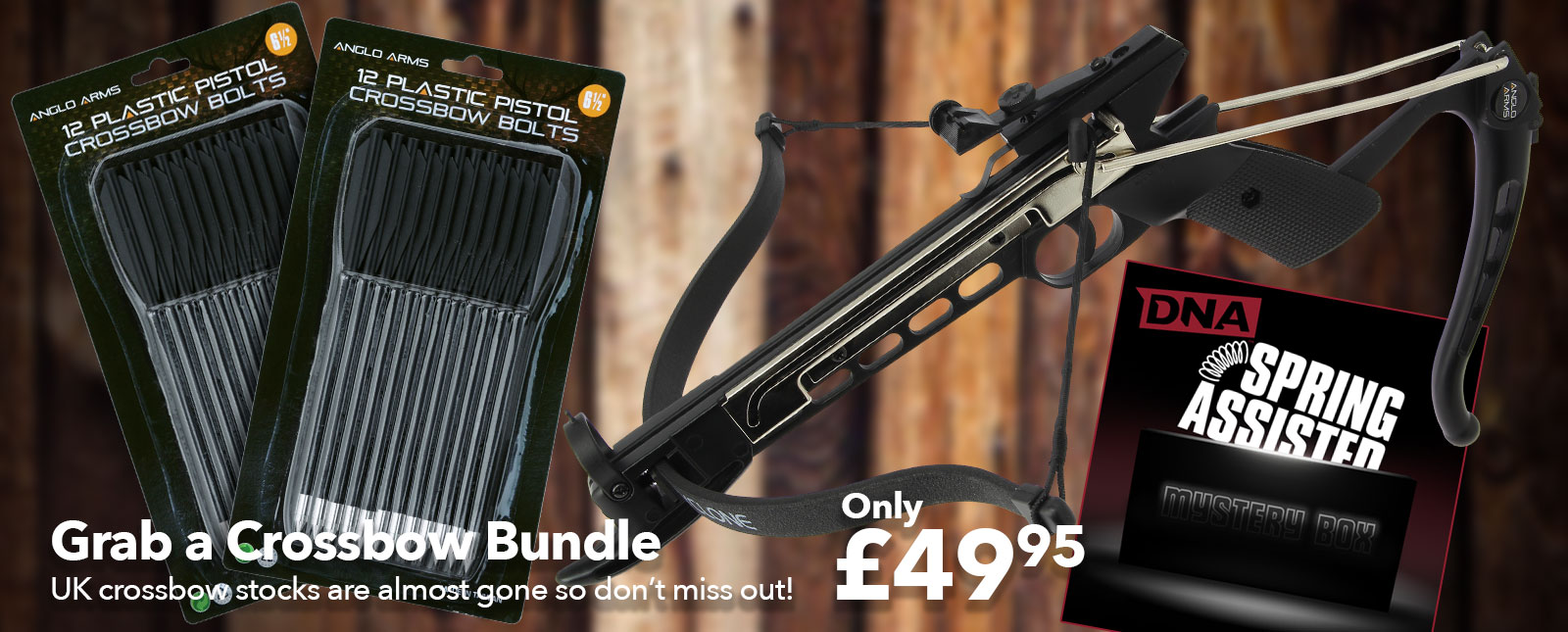 dna leisure cyclone crossbow pistol bundle