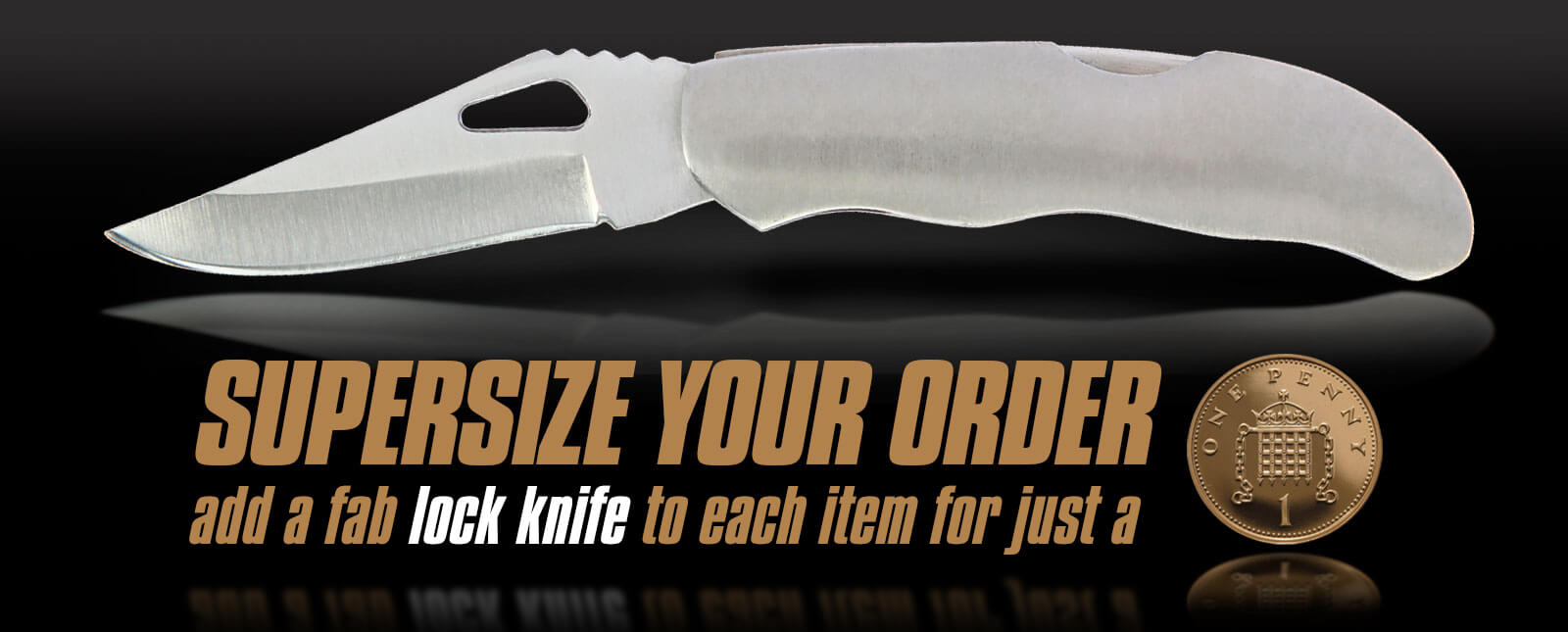 Supersize your order - 1p Add-on