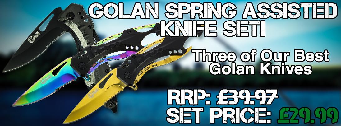 Golan Spring Assisted Folding Lock Knives UK