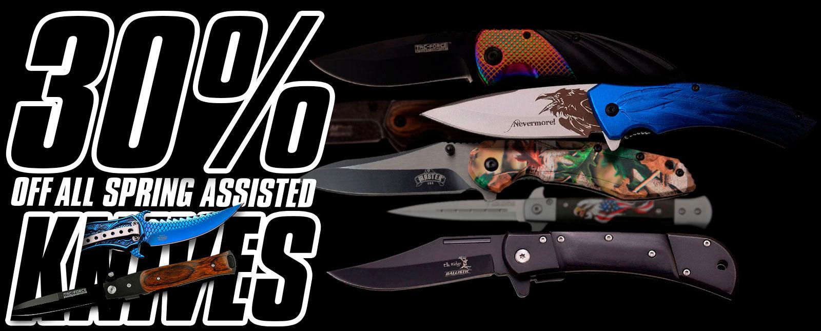 spring assisted knife sale