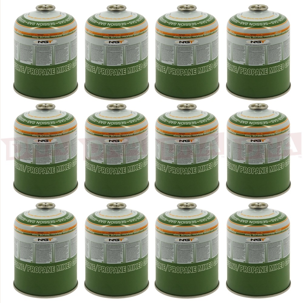 Lot of 12x 450g Gas Butane Gas Canisters