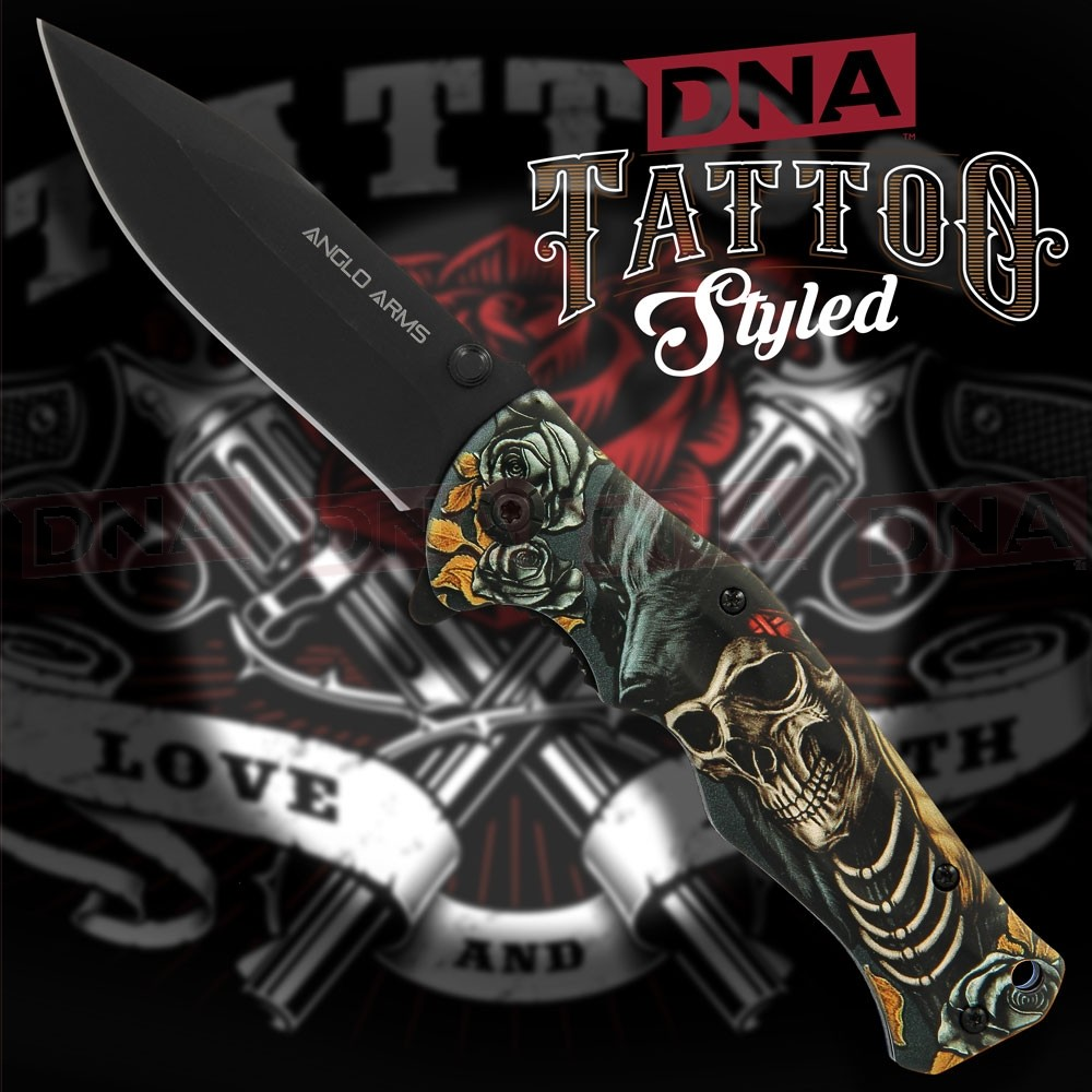 Anglo Arms Tattoo Spring Assisted Knife