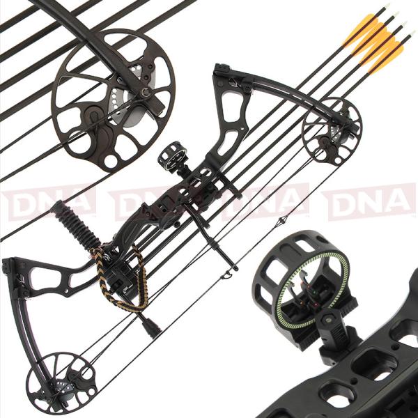 15-70lb Black 'Chikara' Compound Bow Set Main