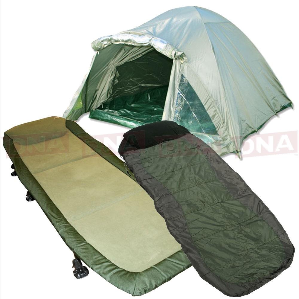 Double Skinned Fishing Bivvy with Bedchair and 4 Season Sleeping Bag Main Image