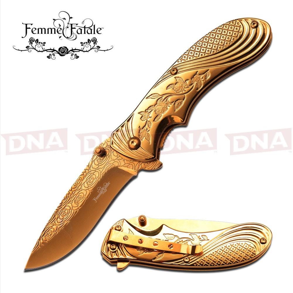 Femme-Fatale-Gold-Ti-Coated-Ballistic-Knife