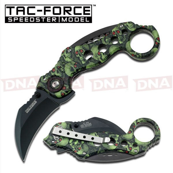 Tac-Force-Spring-Assisted-Karambit-Skull-Camo