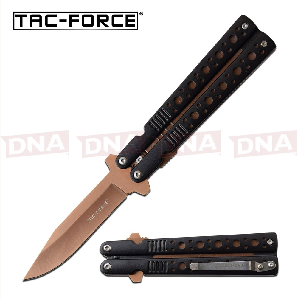 Tac-Force NOT A BALISONG... Spring Assisted Knife - Tan