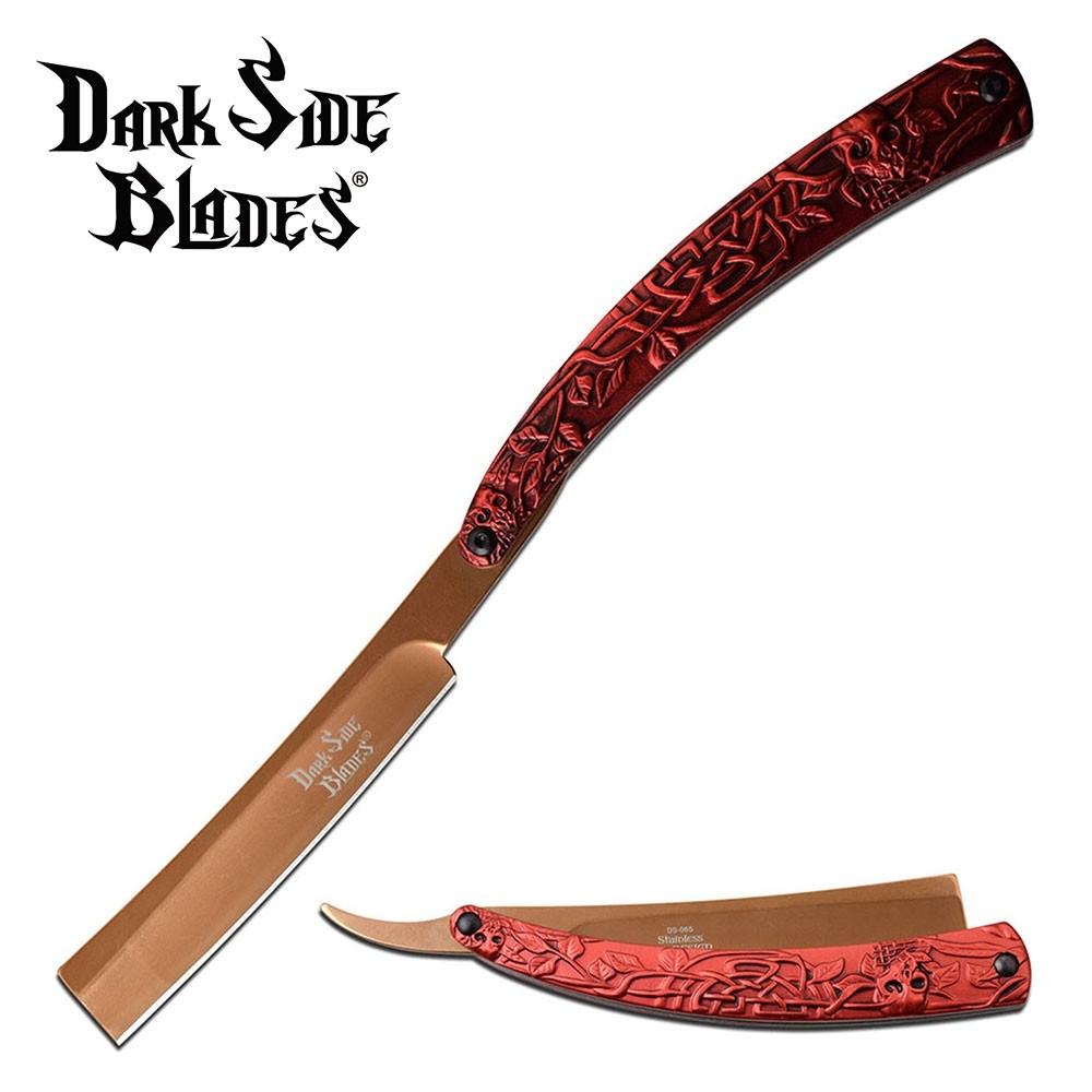 Dark Side Blades Straight Razor - Red