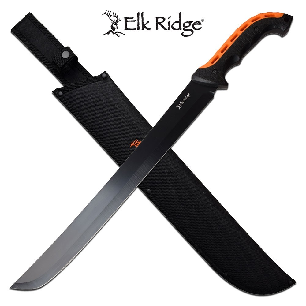 "Elk Ridge 24.25"" Semi-Tanto Machete"