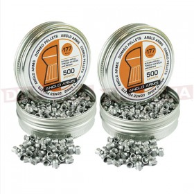 2X TINS OF ANGLO ARMS .177 DOMED PELLETS **BULK DEAL**
