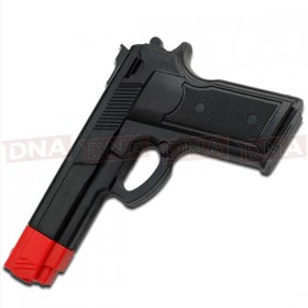 "Black Rubber Training Gun 7"""