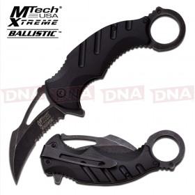 Blackwashed Spring Assisted Karambit Knife - Black