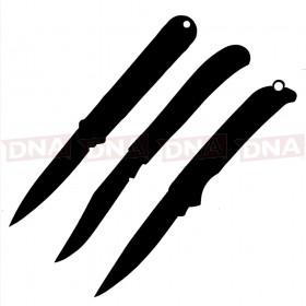 3 x Mystery EDC Knives