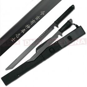 All Black Ninja Sword Set with Kanji