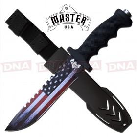 Master USA MU-20-04A Large American Flag Fixed Blade