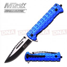 MTech Blue Serrated Ballistic Knife