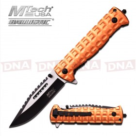 MTech Tan Serrated Ballistic Knife