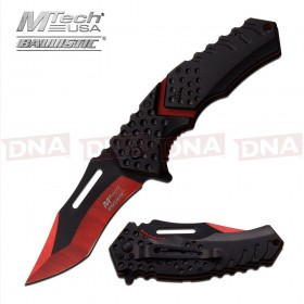 MTech USA Compound Accent Folding Knife - Red