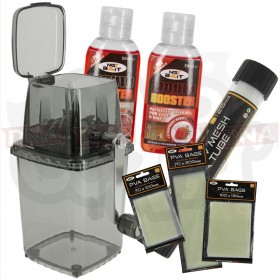 Bait Grinder System with PVA and Liquids