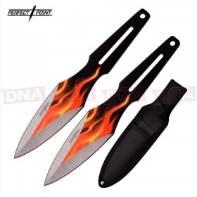 Perfect Point Flamed Throwing Knives