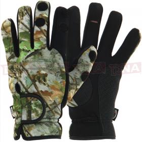 Camo Neoprene Fishing Gloves M, L, XL