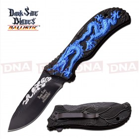 Spring Assisted Dragon Knife - Blue