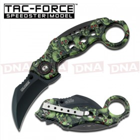 Tac Force Spring Assisted Karambit - Skull Camo