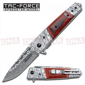 Tac-Force Damascus Spring Assist Knife