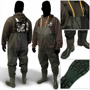 Waterproof Green PVC Chest Waders