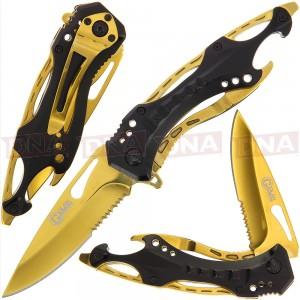 """Golan GOL-888BG 8.25"""" Black Gold Lock Knife"""