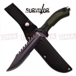 Survivor Bowie Fixed Blade - Green