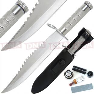 Dundee Style Survival Knife + Kit