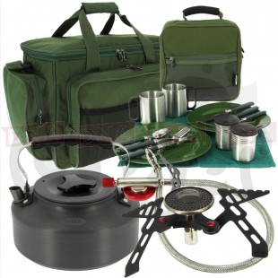 Camping Cutlery Bag Stove Kettle and Cutlery Set
