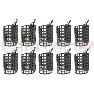 10x 20g Round Metal Cage Feeders