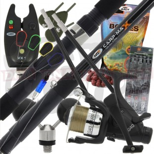 12ft 3pc Carp Rod and Reel Combo Setup with Bait