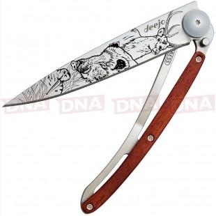 Deejo DEE1CB068 37g Hunting Linerlock Knife Coralwood