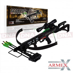 175lb Black Armex Scorpion Crossbow With Rifle Sight