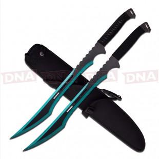 "27""-Twin-Blue-Ninja-Sword-Set"
