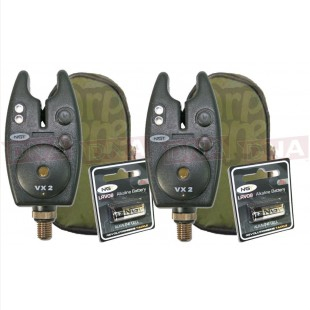 2x VX2 Bite Alarms with Volume & Tone Control