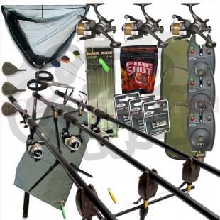 3 Rod Complete Carp Fishing Set Up (Set 7)