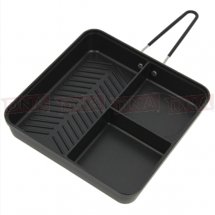 3 Way Compact Outdoor Frying Pan Main