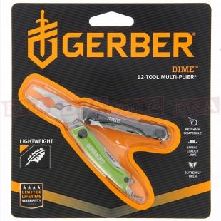 Gerber G-1132 Dime Multi-tool in Green