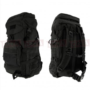 Golan™ 55L 800D Tactical Rucksack / Stuff-sack - Black Front and Back