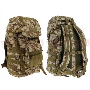 Golan™ 55L 800D Tactical Rucksack / Stuff-sack - Desert Digital Camo Front and Back