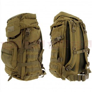 Golan™ 55L 800D Tactical Rucksack / Stuff-sack - Desert Sandstone Front and Back