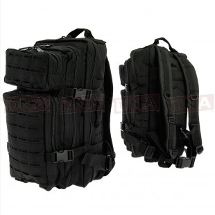 Golan™ 45L 800D Tactical Rucksack - Black Main Front and Back