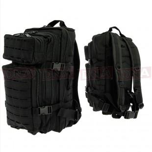 Golan™ 45L 800D Tactical Rucksack - Black Main Front and Back