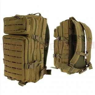 Golan™ 45L 800D Tactical Rucksack - Desert Sandstone Front and Back