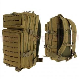 Golan™ 45L 800D Tactical Rucksack - Desert Sandstone Front and Back