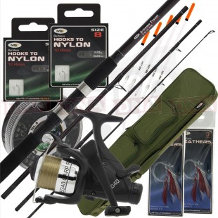 4 ft Travel Set with Rod, Case and Tackle.